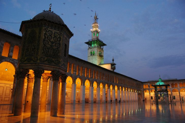 Umayyad Mosque Courtyard in Damascus, Syria