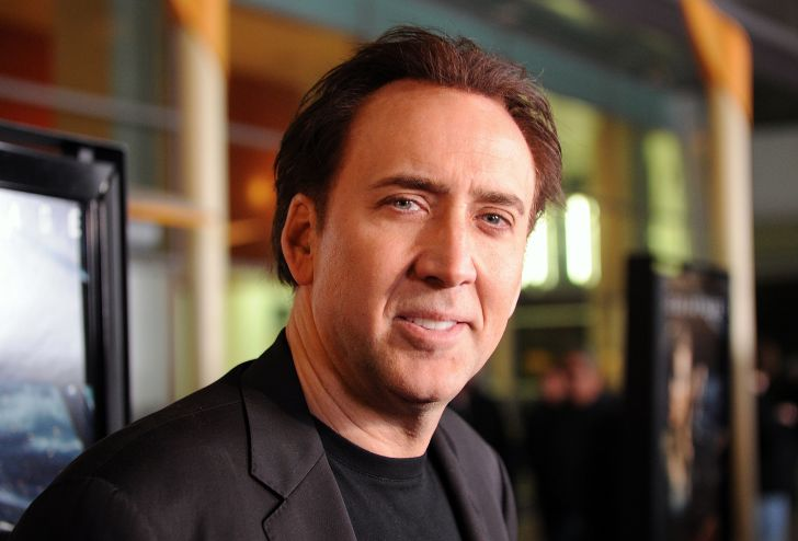 Actor Nicolas Cage arriving at a screening in 2011