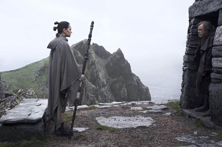Daisy Ridley and Mark Hamill in 'Star Wars: The Last Jedi'