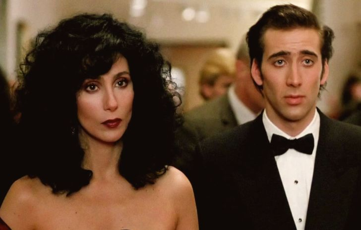 Cher and Nicolas Cage in 'Moonstruck' (1987)