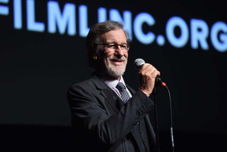 Steven Spielberg gives a speech