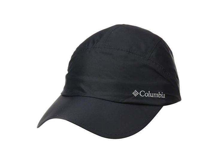 A waterproof black cap