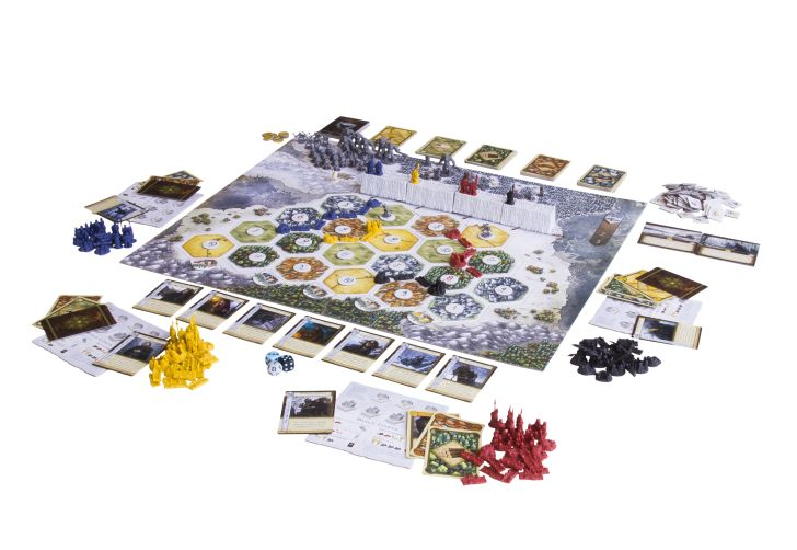 'A Game of Thrones Catan: Brotherhood of the Watch' laid out for play