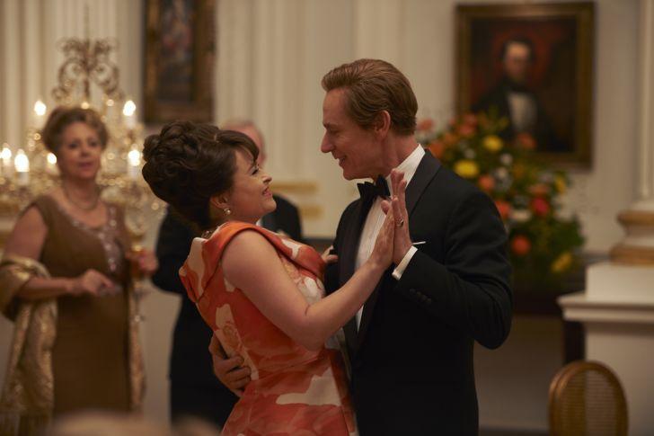 Helena Bonham Carter and Ben Daniels in 'The Crown' season 3