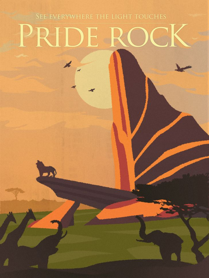 A Lion King travel poster