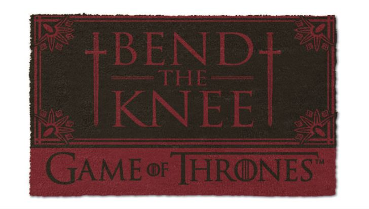 A doormat from the HBO series 'Game of Thrones' is pictured