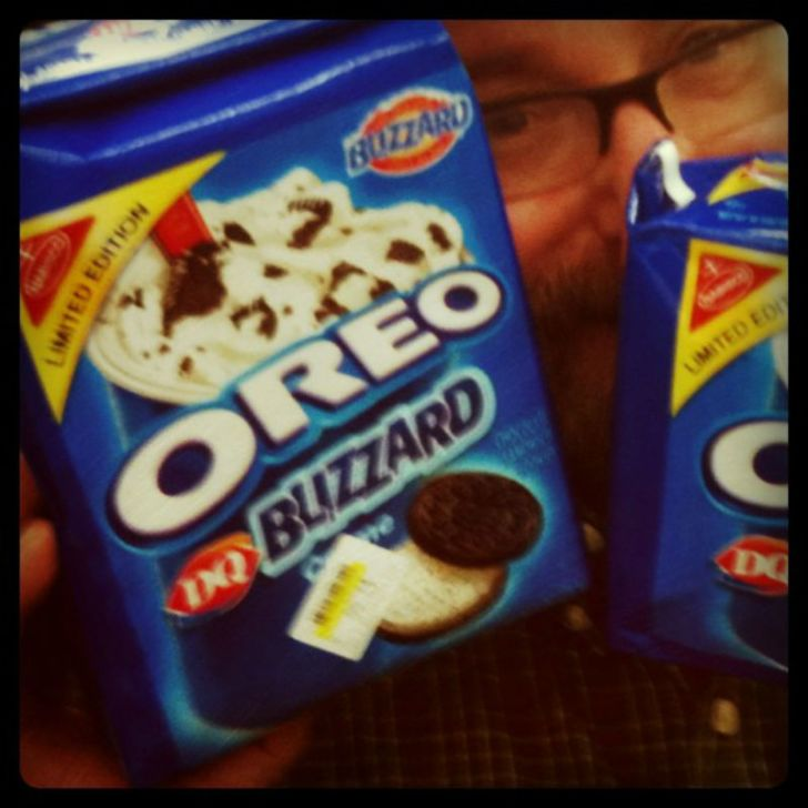 Packages of Oreo DQ Blizzard cookies are pictured