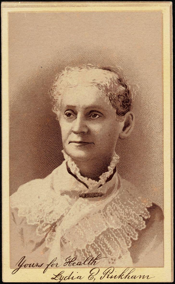 An advertising postcard for Lydia E. Pinkham