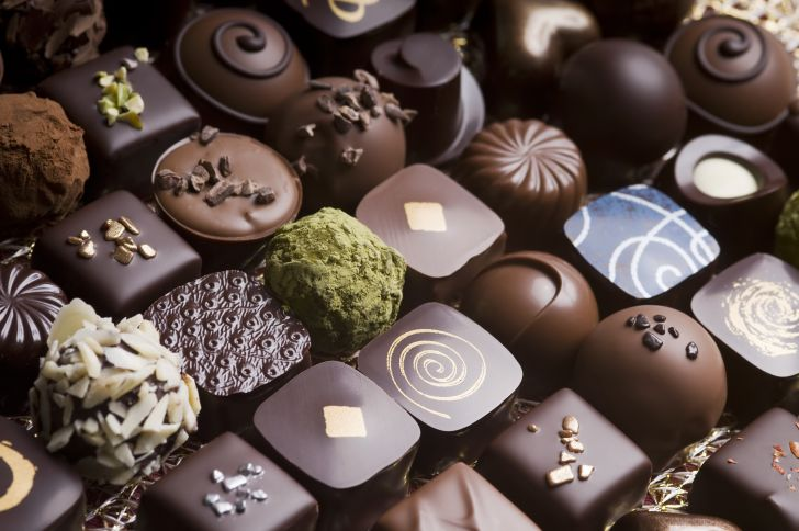 box of decorated chocolates