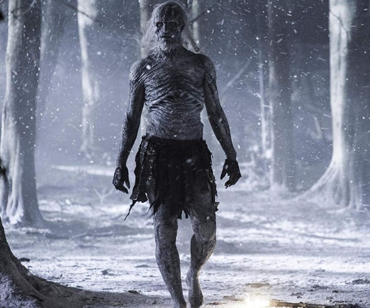 Ian Whyte as a White Walker in Game of Thrones
