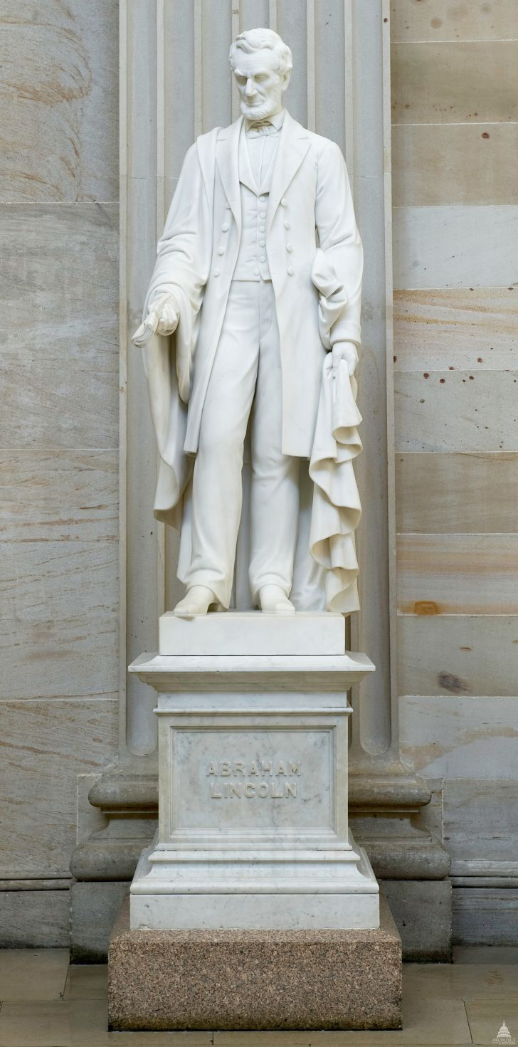 Vinnie Ream's sculpture of Abraham Lincoln still stands in the Capital Rotunda