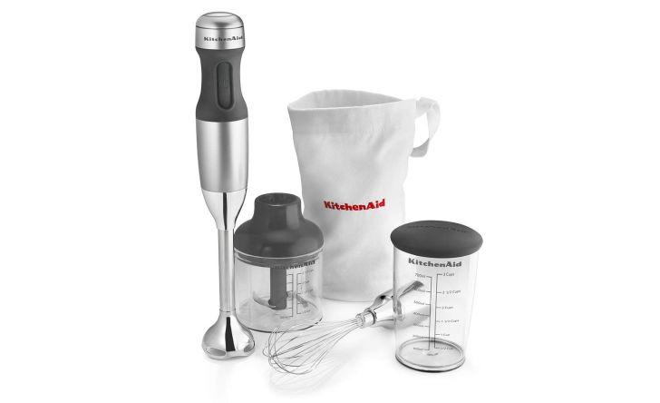 A KitchenAid hand mixer set
