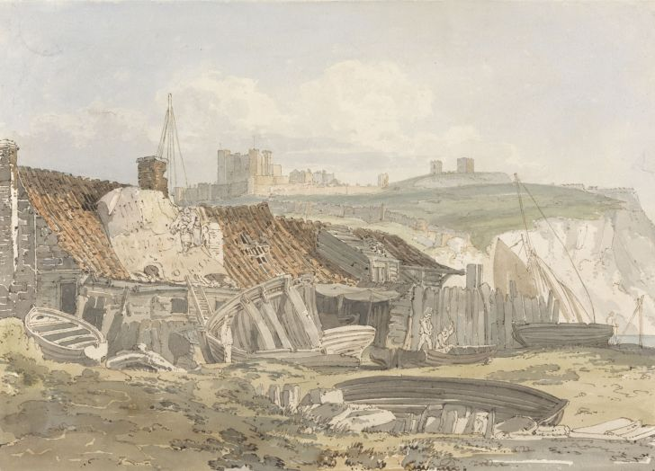 A painting of Dover Castle