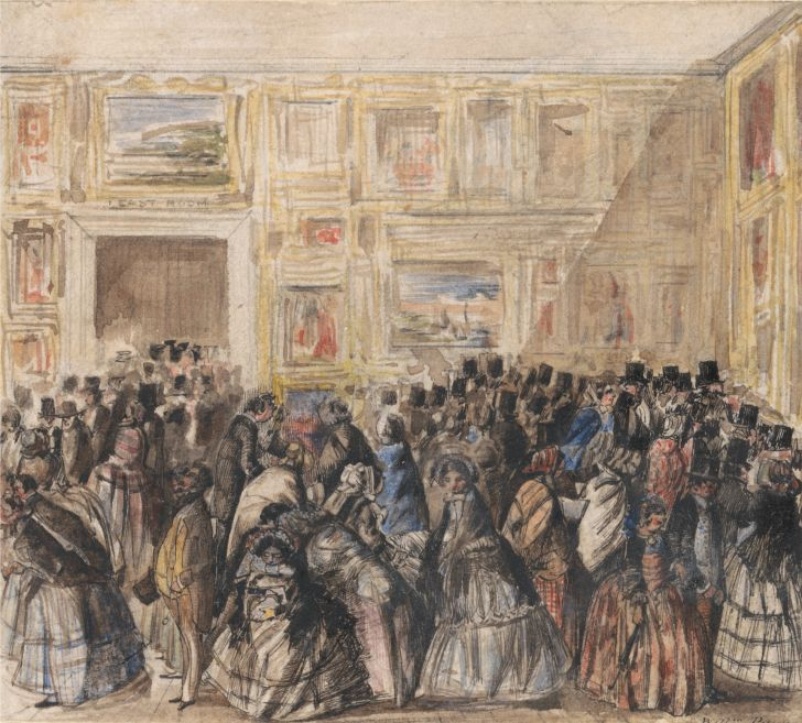 Painting of the Royal Academy in 1858