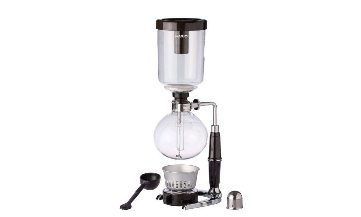 A glass siphon filter brewer
