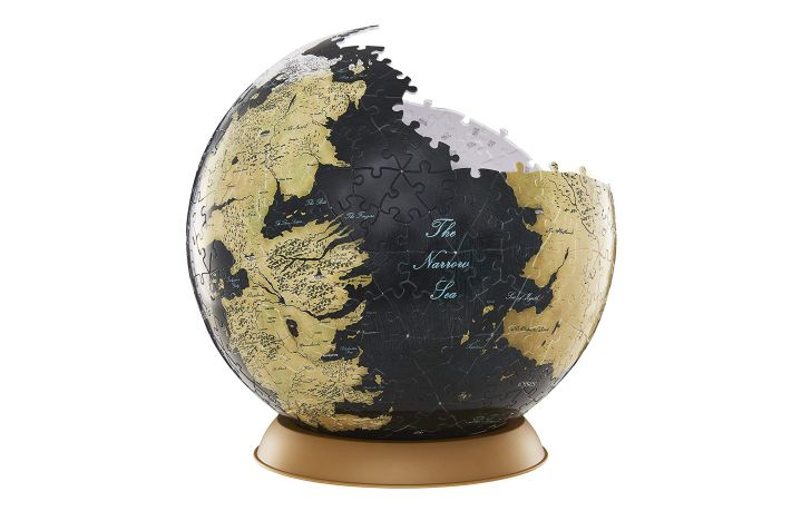 A 3D puzzle shaped like a globe