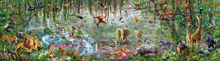 A wildlife-themed jigsaw puzzle