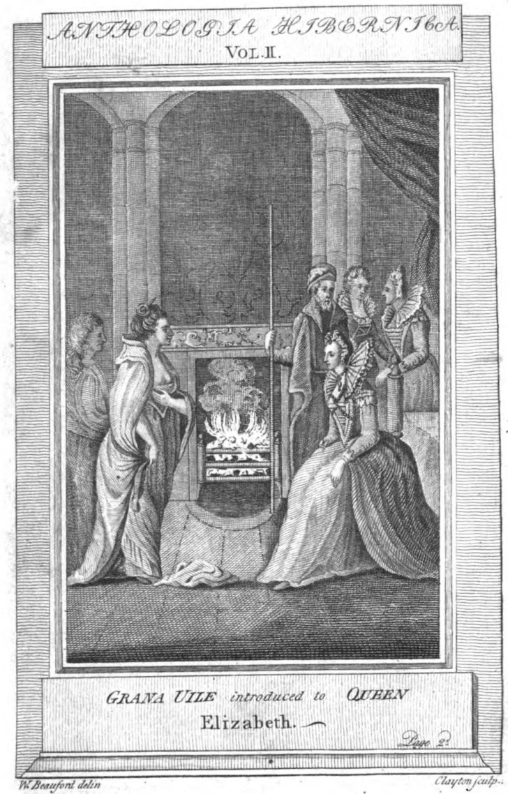 An 18th-century depiction of the meeting between Grace O'Malley and Elizabeth I