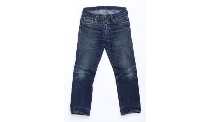 A pair of denim jeans
