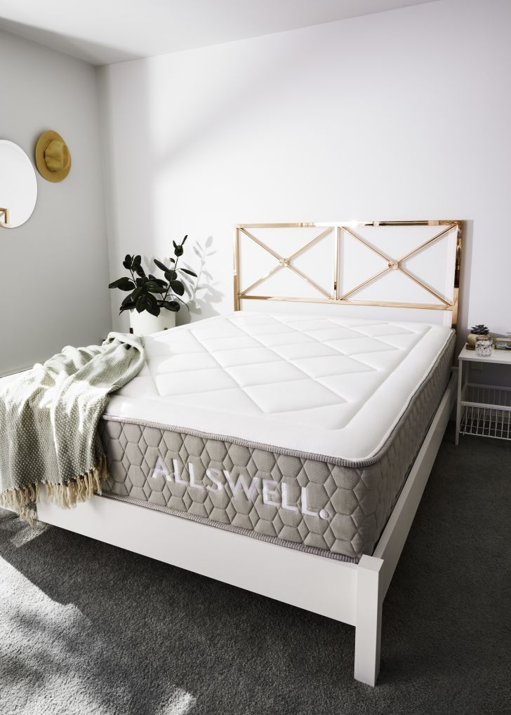Allswell mattress in bedroom.