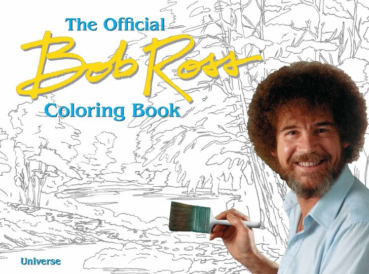 The cover of the Bob Ross coloring book