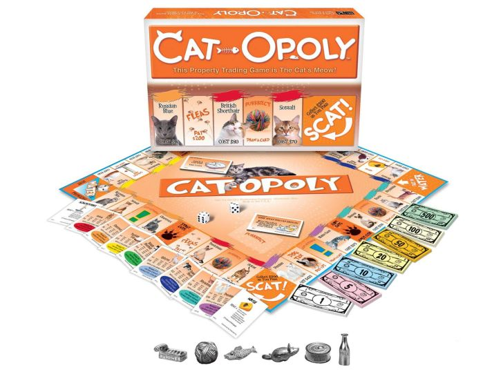 A Cat-Opoly board