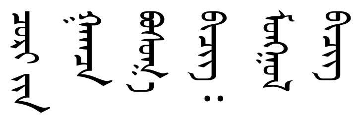The Mongolian script