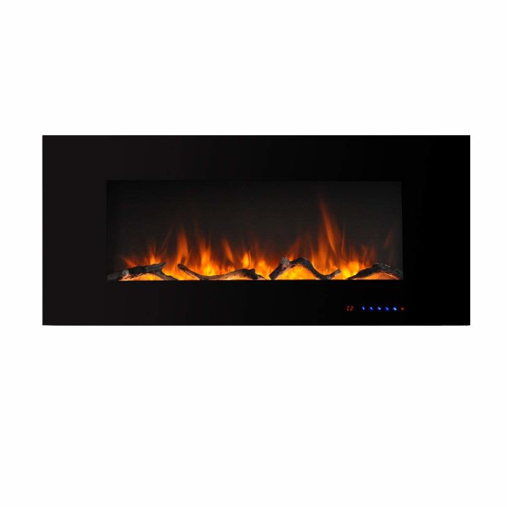 wall-mounted fireplace