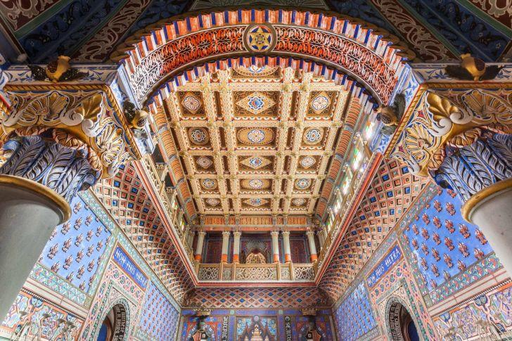 Colorful tile ceilings in Sammezzano Castle