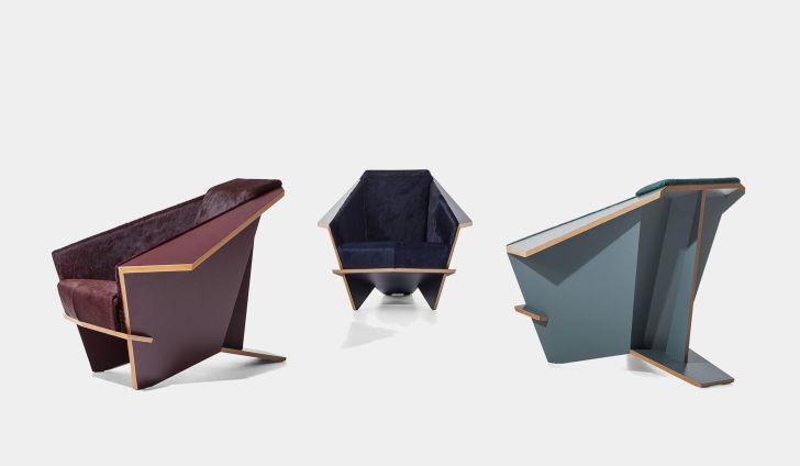 Three Taliesin chairs
