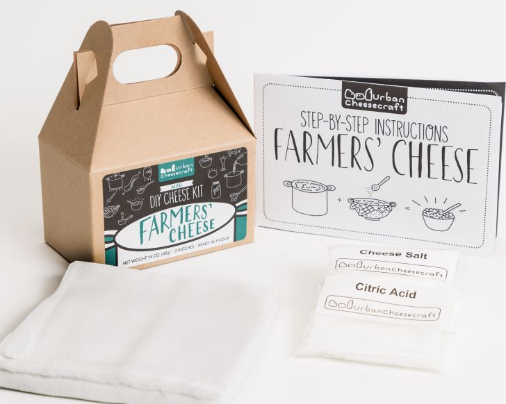 DIY Farmer's Cheese Cheesemaking Kit from Urban Cheesecraft
