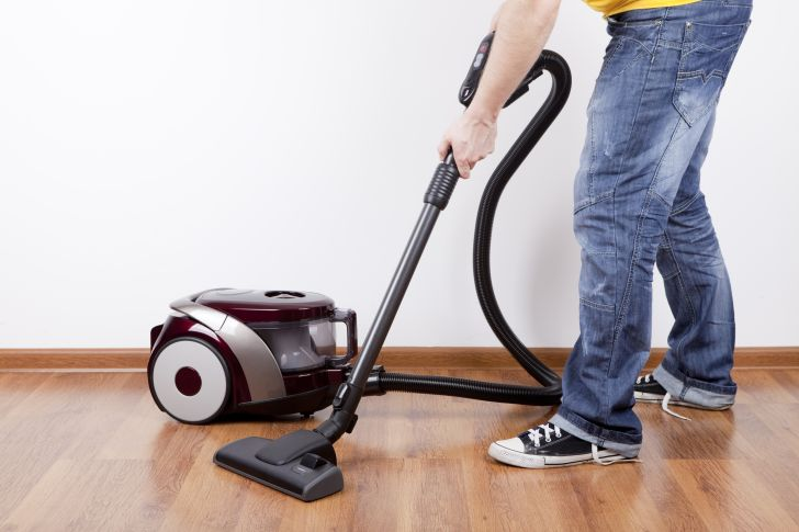 Using a canister vacuum