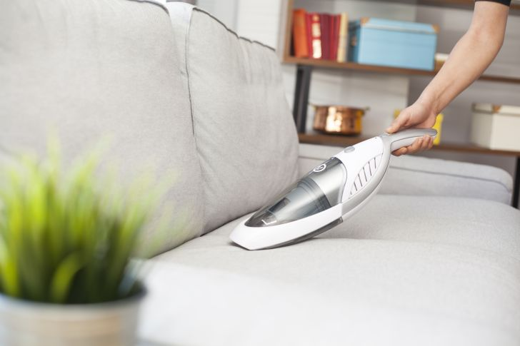 A handheld vacuum