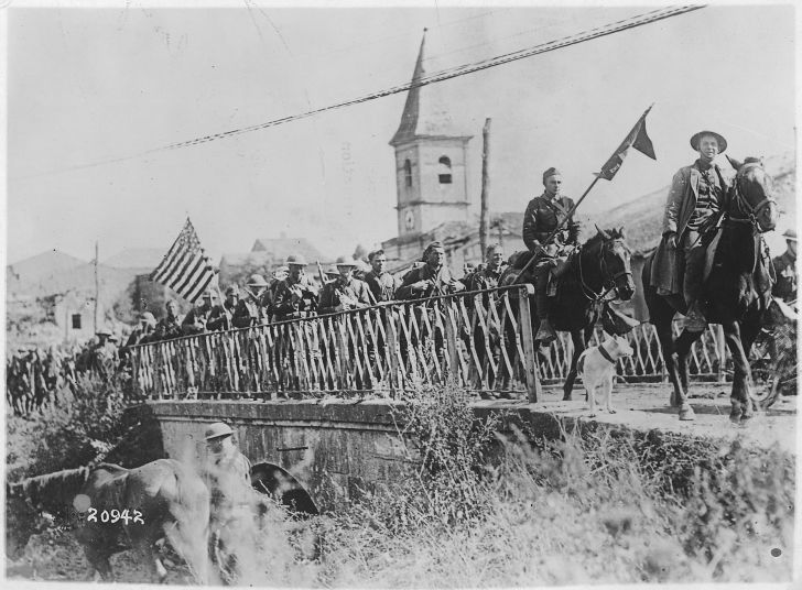 Entering St. Mihiel, World War I
