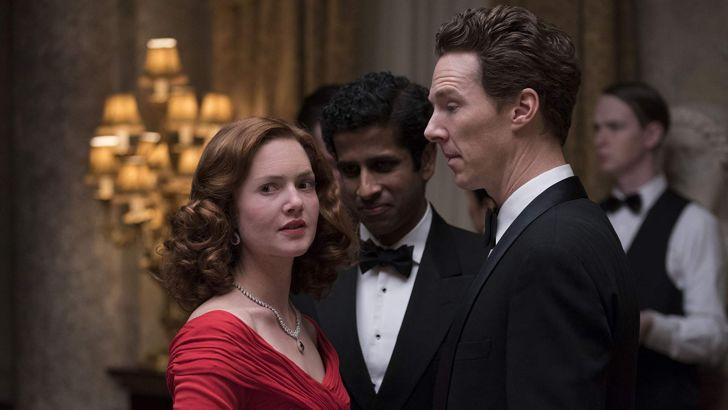 Holliday Grainger, Benedict Cumberbatch, and Prasanna Puwanarajah in 'Patrick Melrose'