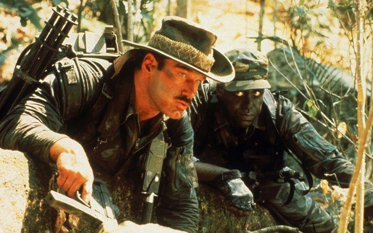 Jesse Ventura and Bill Duke in 'Predator' (1987)