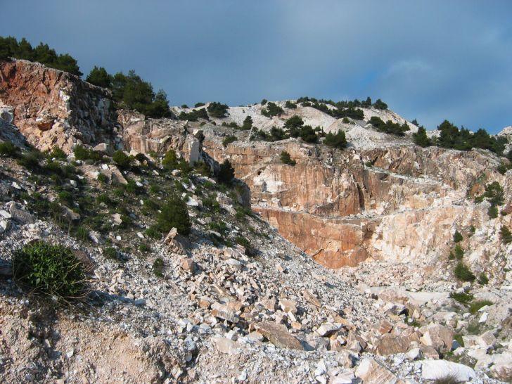 Marble at Mount Pentelicon