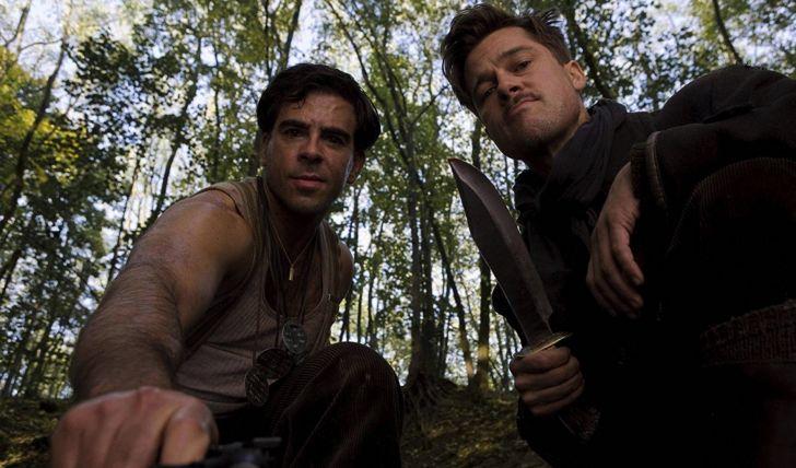 Eli Roth and Brad Pitt in Quentin Tarantino's 'Inglourious Basterds' (2009)