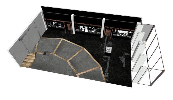 Floor plan of the exhibition