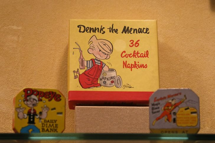 image of Dennis the Menace merchandise (specifically, 36 cocktail napkins)