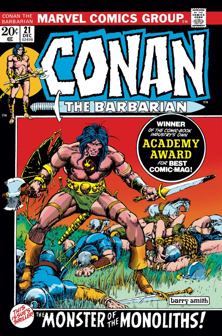 The cover to Marvel's Conan the Barbarian #21