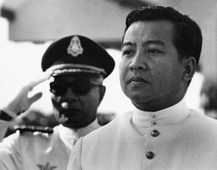 Norodom Sihanouk at a naval event