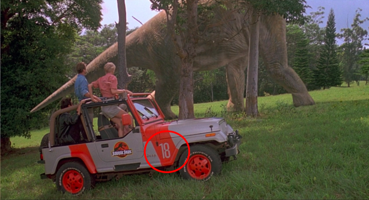 A screen grab from 'Jurassic Park' (1993)