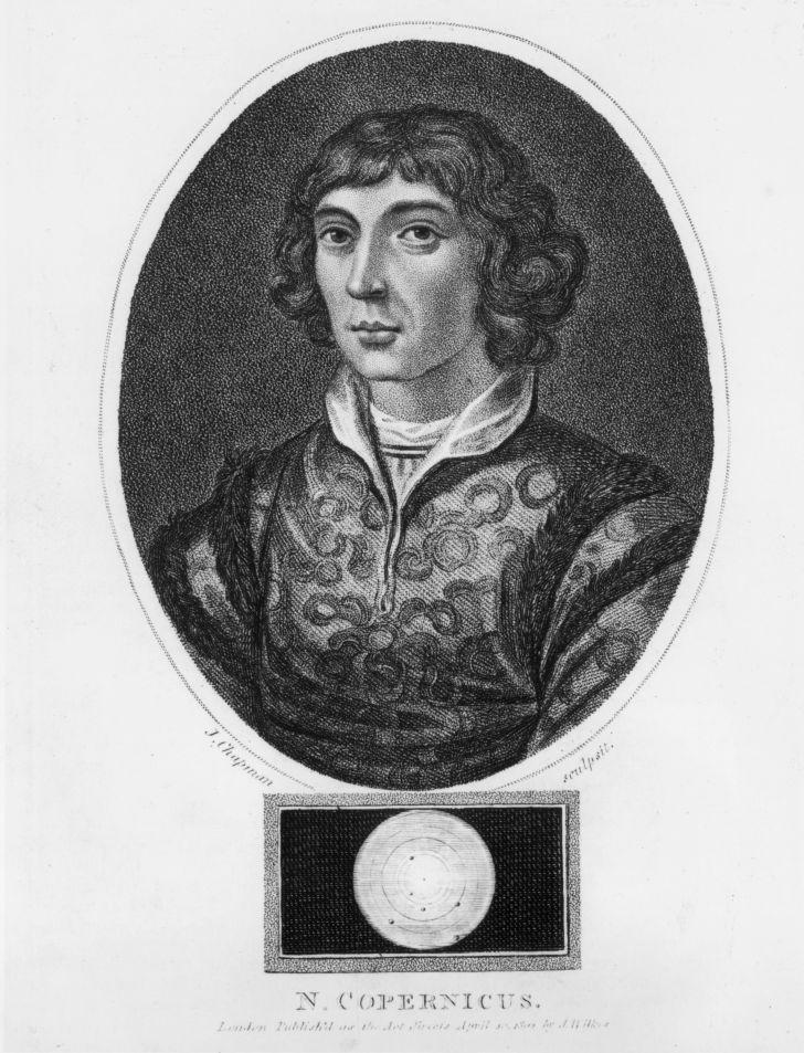 An etching of Copernicus, circa 1530.