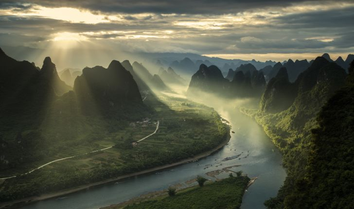 The karst peaks of Guilin, China