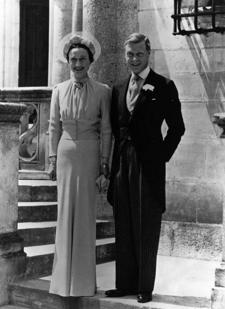 Duke of Windsor and Wallis Simpson in France on their wedding day, June 3, 1937