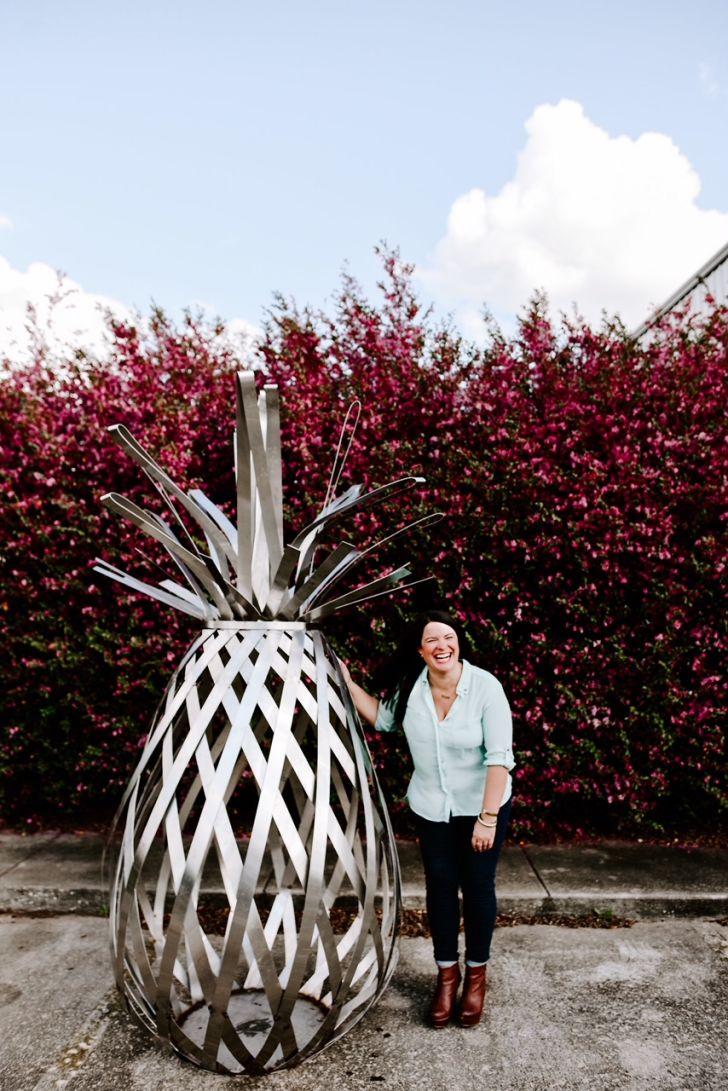 A pineapple sculpture