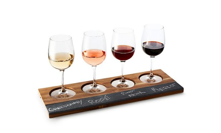 Wood and Slate Wine Taster's Board