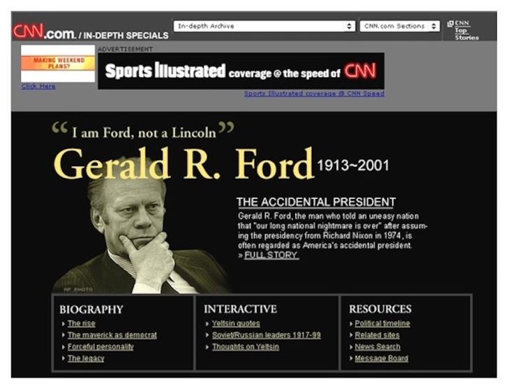 A (mistaken) CNN obituary for Gerald Ford