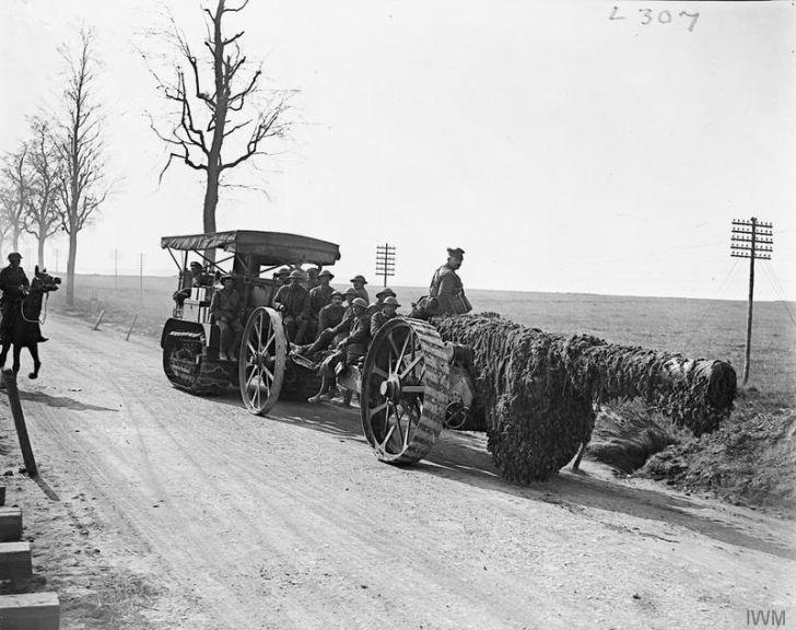 Haevy gun retreating, Operation Michael, World War I